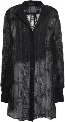 Ann Demeulemeester Embroidered Silk-blend Gauze Shirt