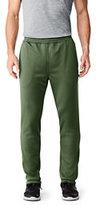 Lands' End Men's Active Fleece Track Pants-Steel Gray Heather