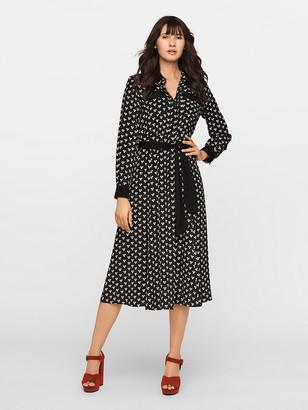 Diane von Furstenberg Antonette Crepe Midi Shirt Dress