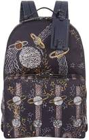 Valentino Zandra Rhodes Space Print Backpack, Navy, One Size