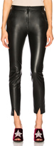 Zeynep Arcay Coated Leather Pants with Ankle Slits