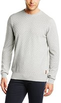 Ben Sherman Men's Check Crew Neck Sweater