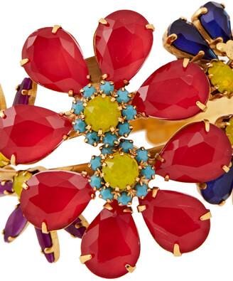 Elizabeth Cole 24-karat Gold-plated, Swarovski Crystal And Stone Hoop Earrings