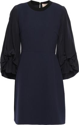 Roksanda Silk-blend Crepe De Chine And Crepe Mini Dress