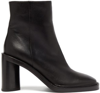Acne Studios Booker Square-toe Leather Ankle Boots - Womens - Black