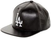 American Needle Delirious LA Dodgers Faux Leather Snapback Hat