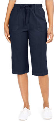 Karen Scott Cropped Cotton Pull-On Pants