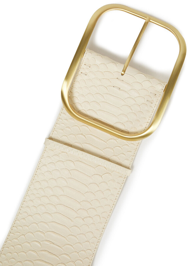 Thumbnail for your product : Zimmermann Snake-effect Leather Belt