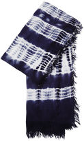 BCBGMAXAZRIA Stripe Tie-Dye Scarf