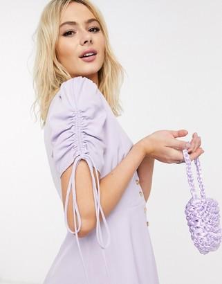 Skylar Rose button front smock dress in lavender