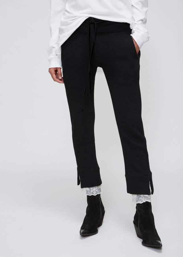 Ann Demeulemeester Lace Detail Trouser