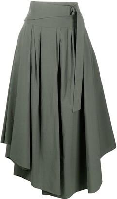 Brunello Cucinelli Asymmetric Hem Flared Skirt