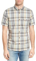 Jeremiah Men's Cecil Regular Fit Herringbone Plaid Sport Shirt