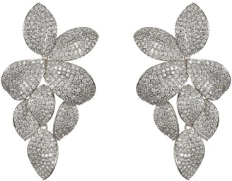 Nina Floral Pave Earrings