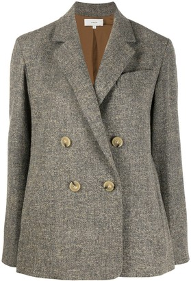 Vince Double-Breasted Long-Sleeve Blazer