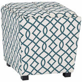 Asstd National Brand 2-Pc Fabric Ottoman Set with tray top