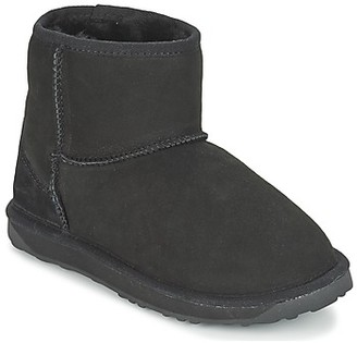 Just Sheepskin MINI CLASSIC women's Low Ankle Boots in Black