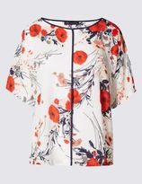 Marks and Spencer Poppy Print Short Sleeve Shell Top