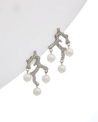 Kenneth Jay Lane Rhodium Plated Earrings