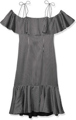 AMUR Women's Francesca Striped Silk Dress