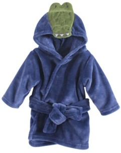 Hudson Baby Animal Face Hooded Bathrobe, 0-9 Months
