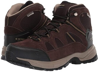 Hi-Tec Red Rock Mid Waterproof (Dark Chocolate/Dull Gold) Men's Boots
