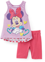 Children's Apparel Network Minnie Mouse Bow Sleeveless Top & Shorts - Infant & Toddler