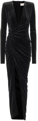 Alexandre Vauthier Glitter velvet gown