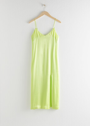 And other stories Side Slit Midi Slip Dress