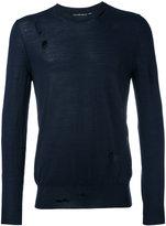 Alexander McQueen - distressed jumper - men - Silk/Wool - M