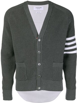 Thom Browne 4-Bar Half-&-Half cardigan
