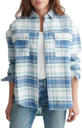 Lucky Brand Boyfriend Plaid Brushed Cotton Flannel Shirt