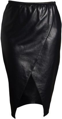 Something Wicked Lexi Leather Wrap Skirt Mid Length