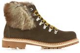MONTELLIANA Camelia fur-trimmed suede après-ski boots