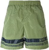 Stone Island logo print swim shorts - men - Polyamide - S