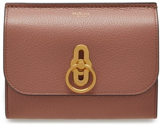 Mulberry Amberley Medium Wallet Pale Slate Small Classic Grain