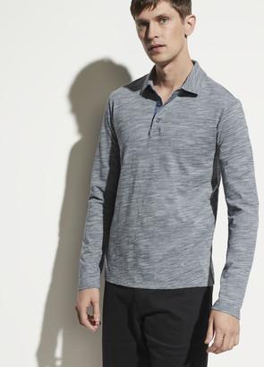 Vince Long Sleeve Stripe Polo