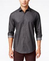 Alfani Men's Big and Tall Grid Long-Sleeve Shirt, Classic Fit