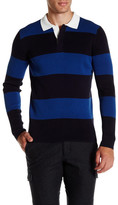 Vince Rugby Long Sleeve Polo