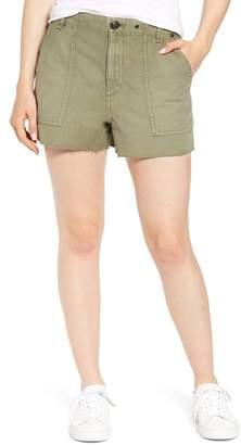 Rag & Bone Super High Waist Cotton Army Shorts