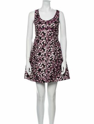 Prabal Gurung Floral Print Mini Dress Pink