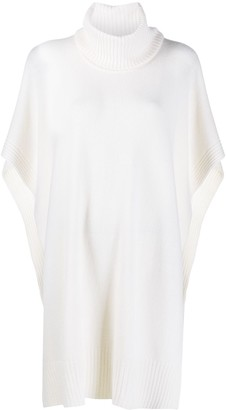 Roberto Collina Rib-Trimmed Knitted Poncho