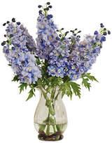 """Winward Silks 15"""" Delphinium in Vase - Faux"""