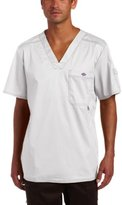 """Dickies Men's Big and Tall Genflex (Contrast) """"Youtility"""" V-Neck Scrub Top"""