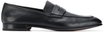 Ermenegildo Zegna Narrow-Toe Leather Penny Loafers