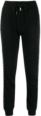 Philipp Plein Crystal-Embellished Track Pants