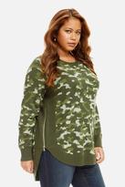 Fashion to Figure Cady Hi-Lo Camouflage Sweater