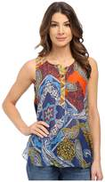 Hale Bob Color Me Cuban Sleeveless Blouse