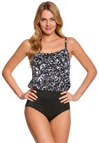 Longitude Eyes On Me Blouson Tank One Piece Swimsuit 8150536