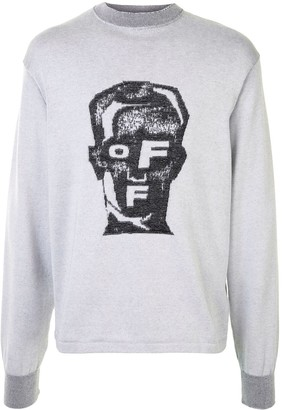 Off-White Masked Face knitted jumper